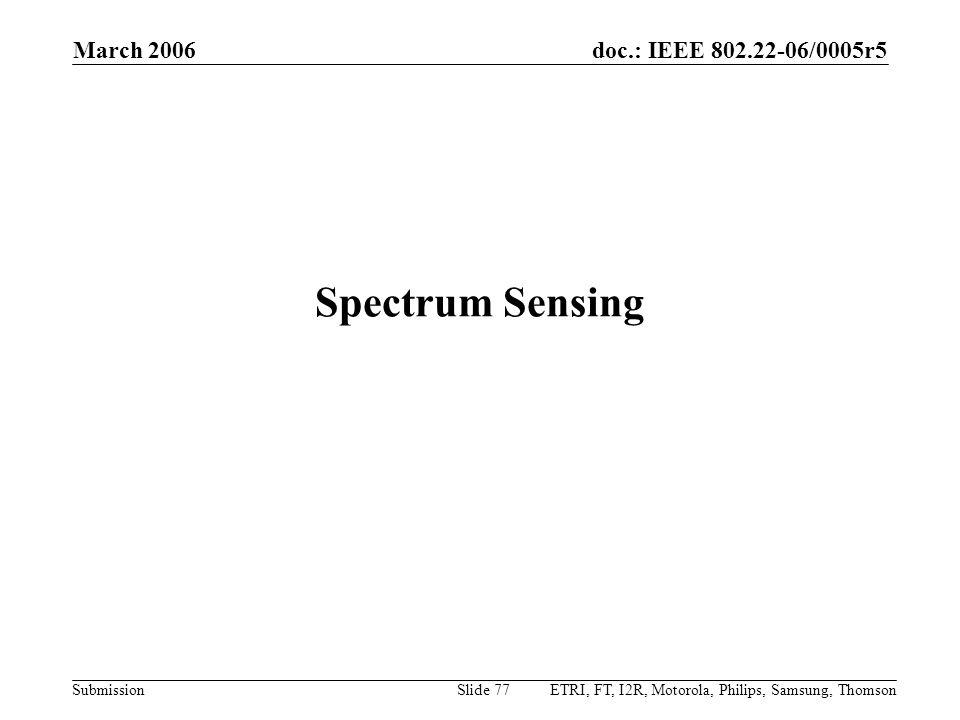 Spectrum Sensing March 2006
