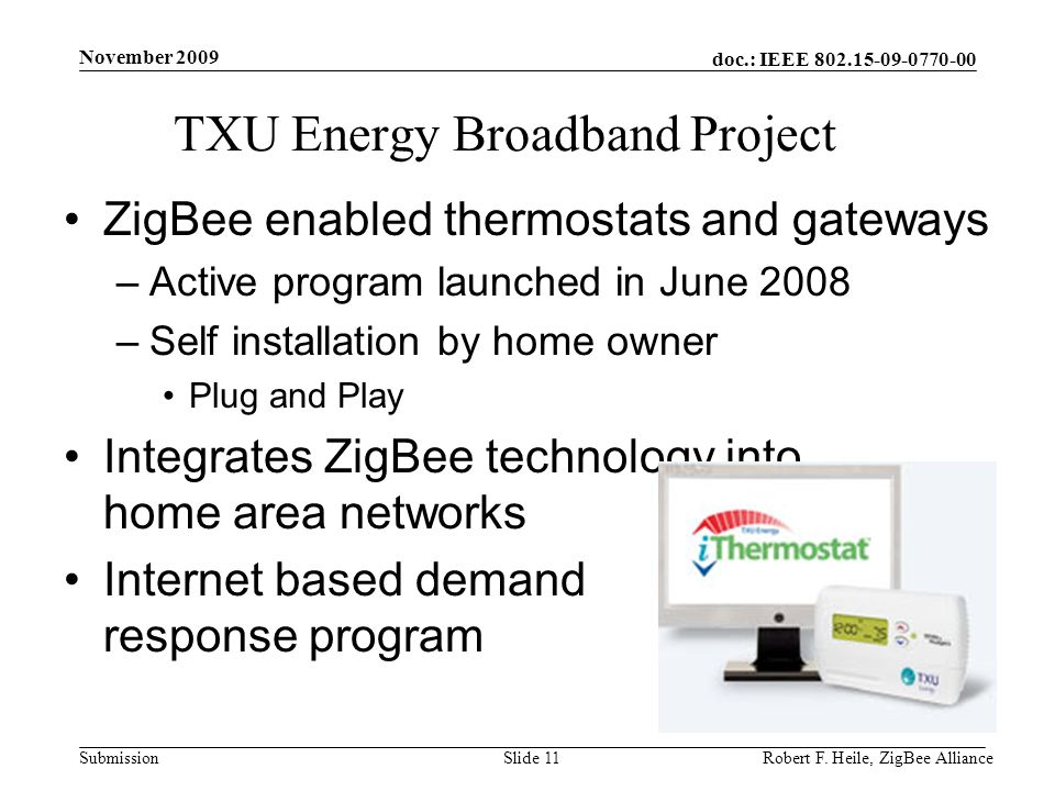 TXU Energy Broadband Project