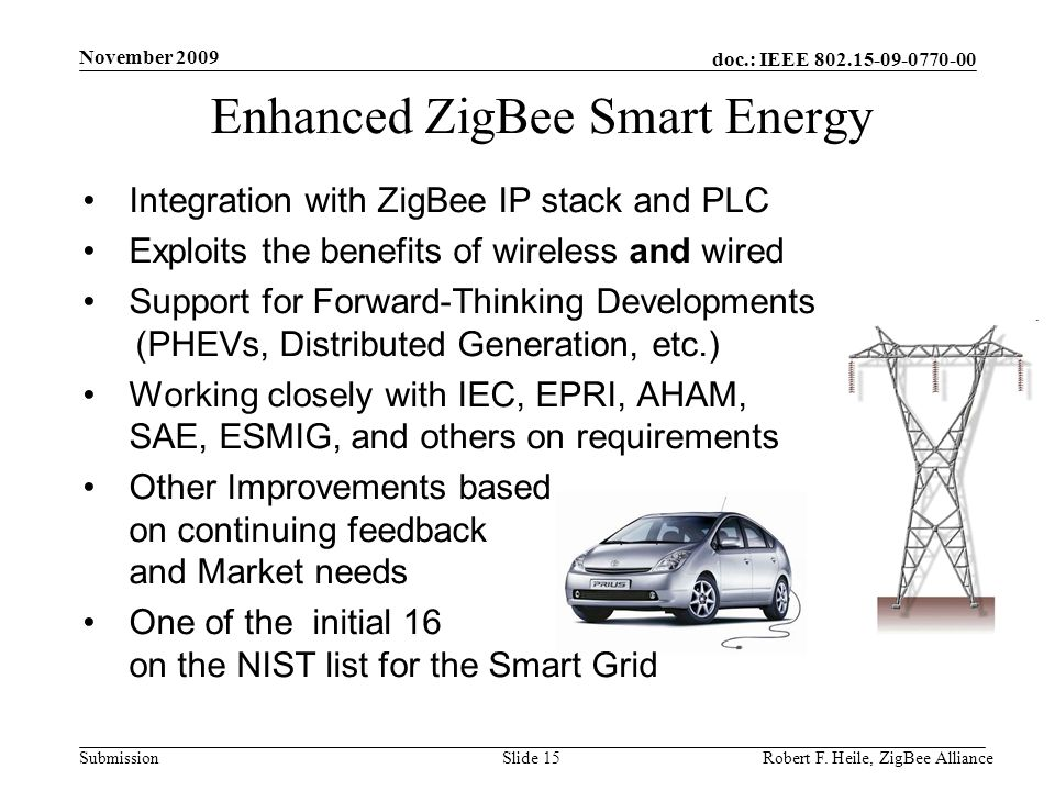 Enhanced ZigBee Smart Energy