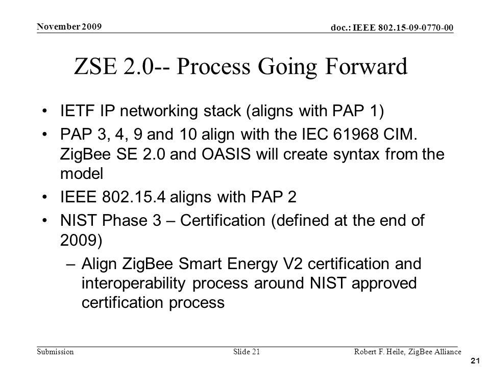 ZSE 2.0-- Process Going Forward