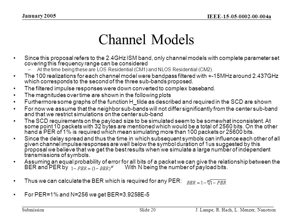 Channel Models January 2005