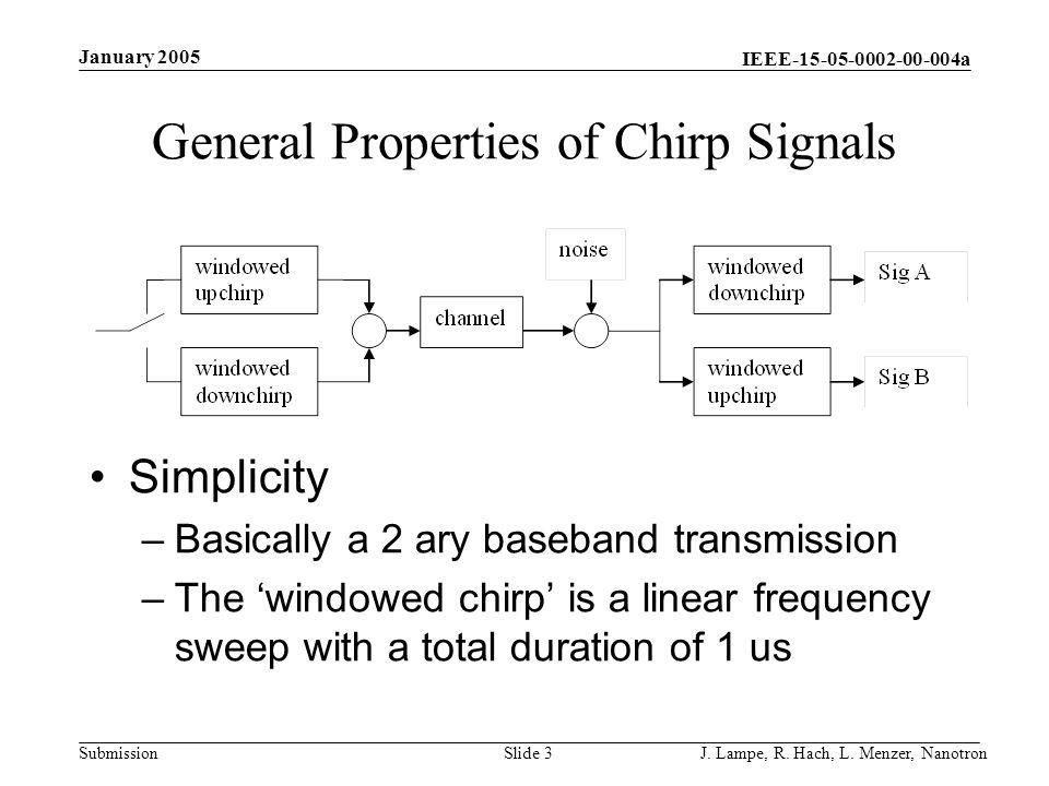 General Properties of Chirp Signals