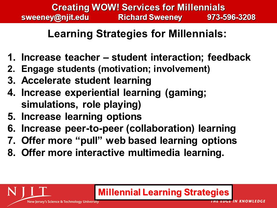 Collaborative Review Teaching ~ Creating wow services for millennials ppt download