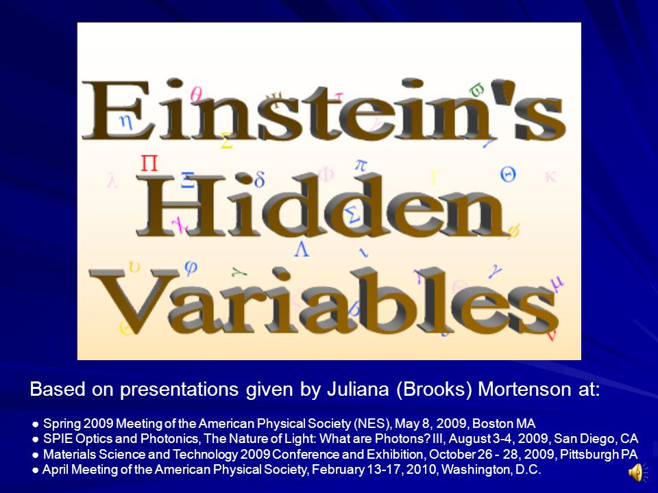 Based on presentations given by Juliana (Brooks) Mortenson at: