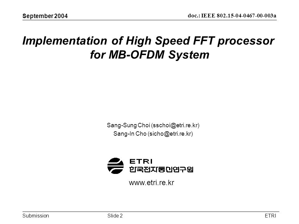 Implementation of High Speed FFT processor for MB-OFDM System