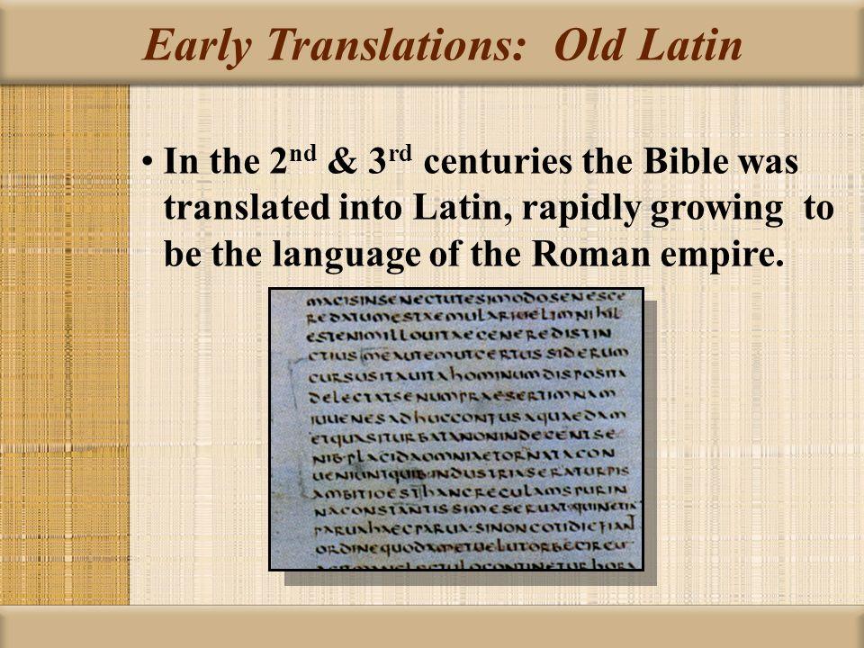 Old Latin Translations 22