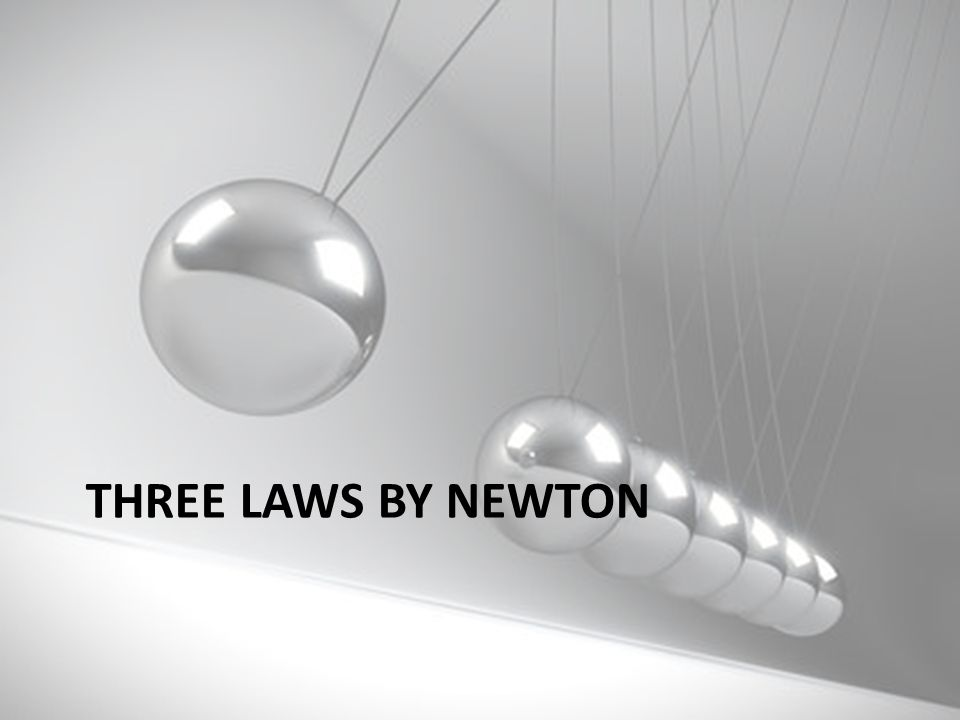 Three Laws by newton