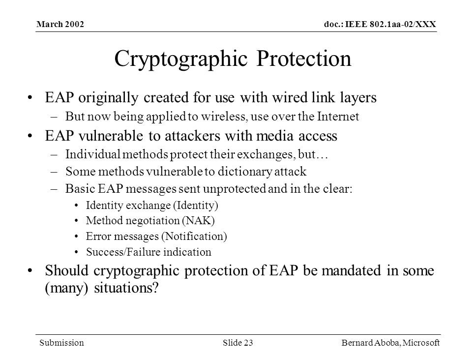 Cryptographic Protection