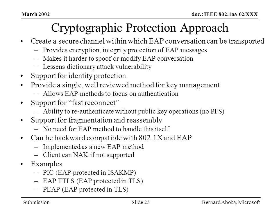 Cryptographic Protection Approach