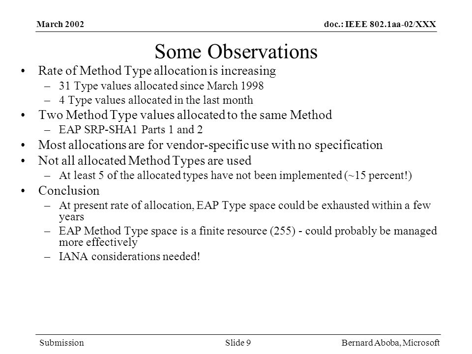 Some Observations Rate of Method Type allocation is increasing