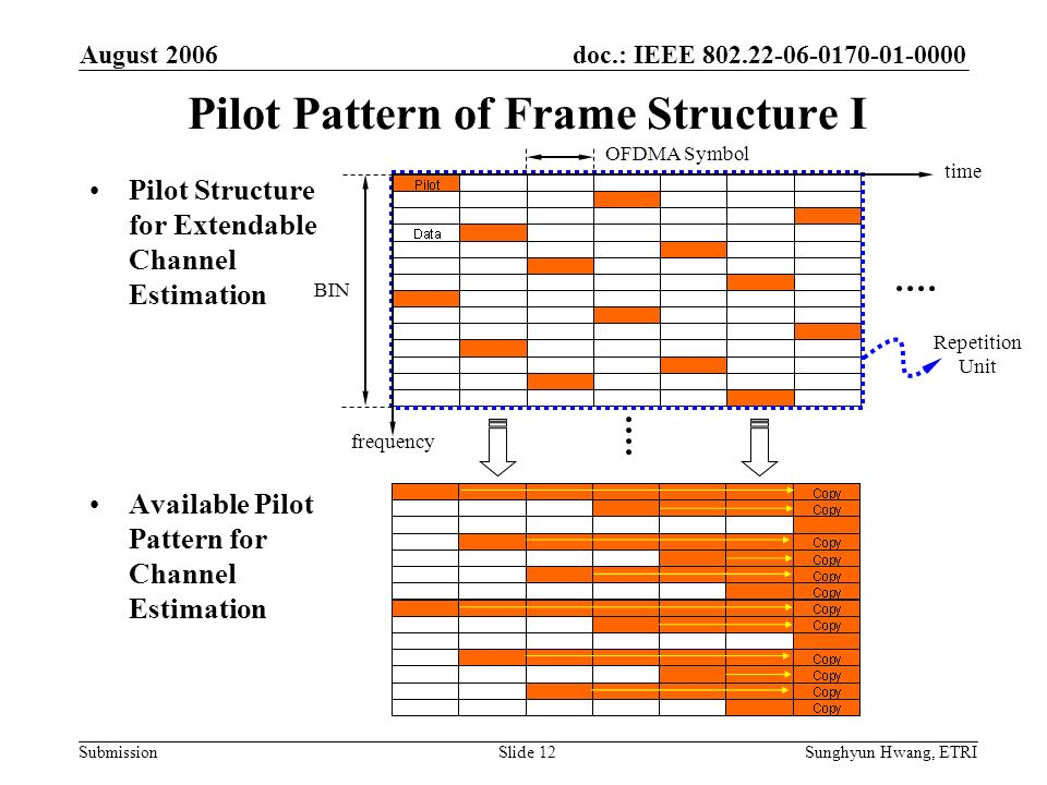 Pilot Pattern of Frame Structure I