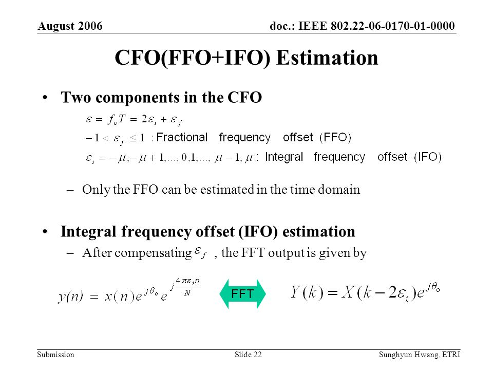 CFO(FFO+IFO) Estimation