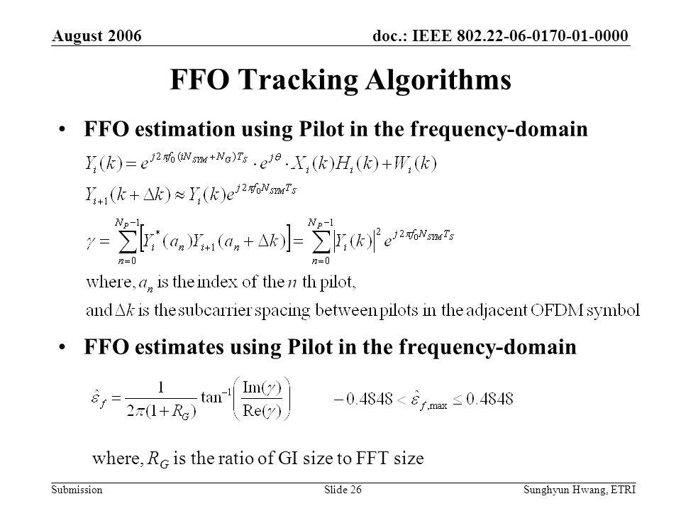FFO Tracking Algorithms