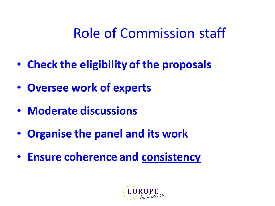 Role of Commission staff