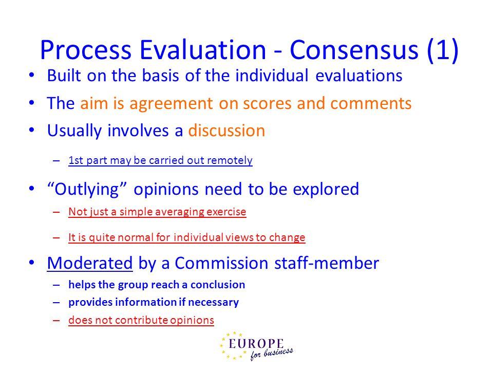 Process Evaluation - Consensus (1)