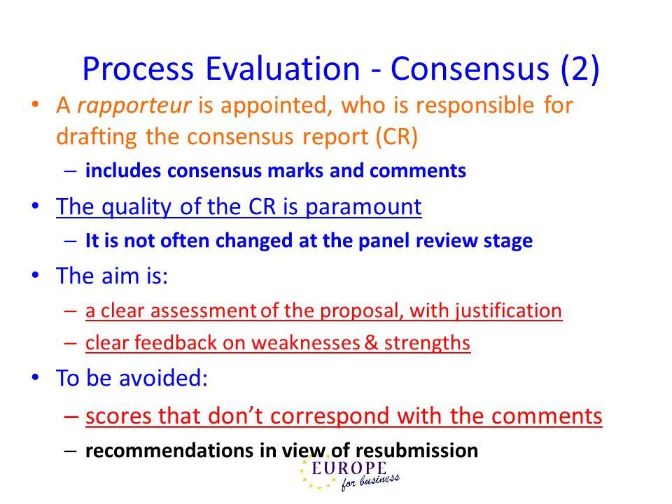 Process Evaluation - Consensus (2)