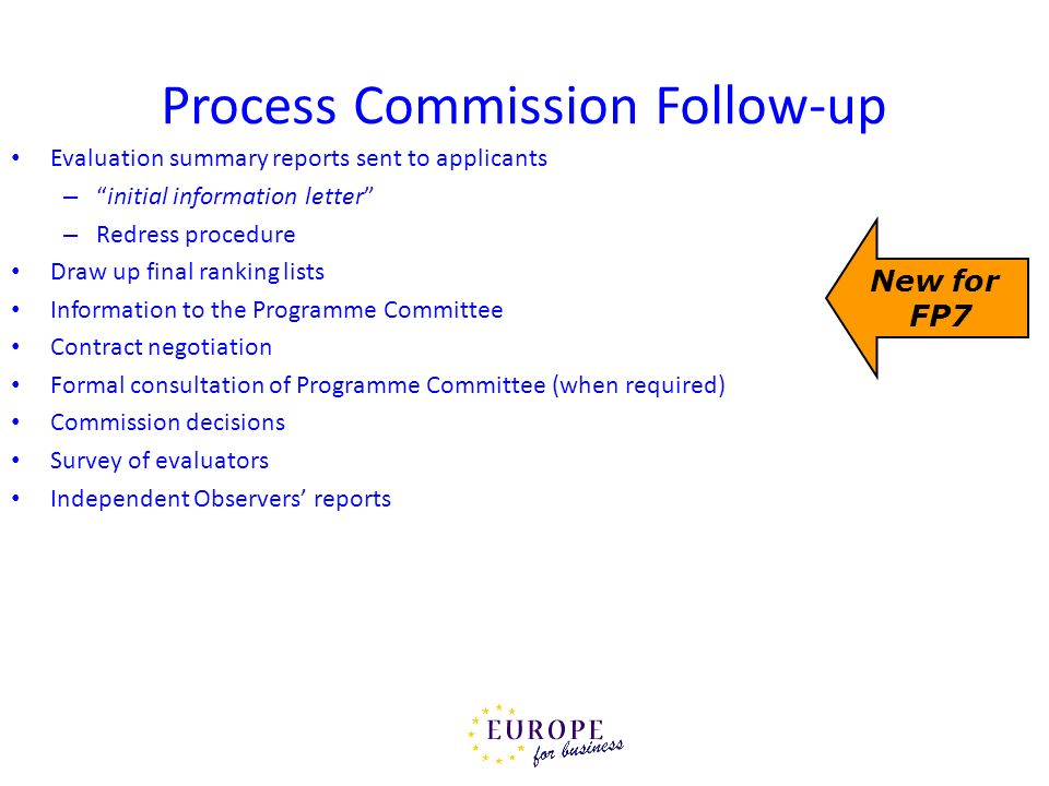 Process Commission Follow-up