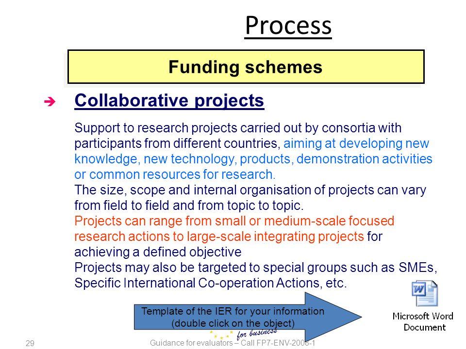 Process Funding schemes