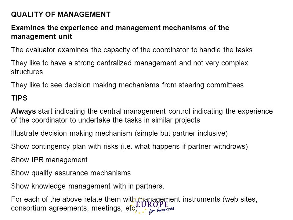 QUALITY OF MANAGEMENT Examines the experience and management mechanisms of the management unit.