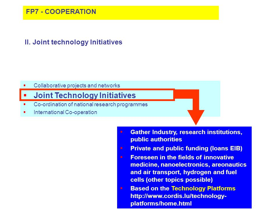 Joint Technology Initiatives