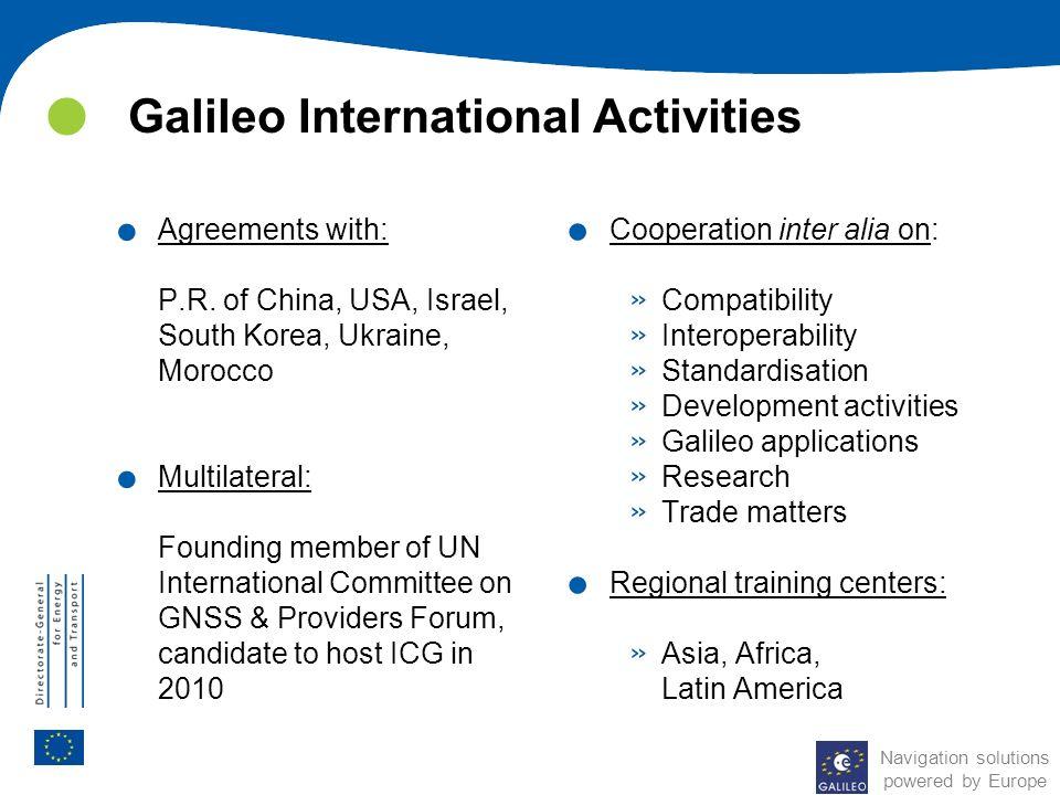 Galileo International Activities