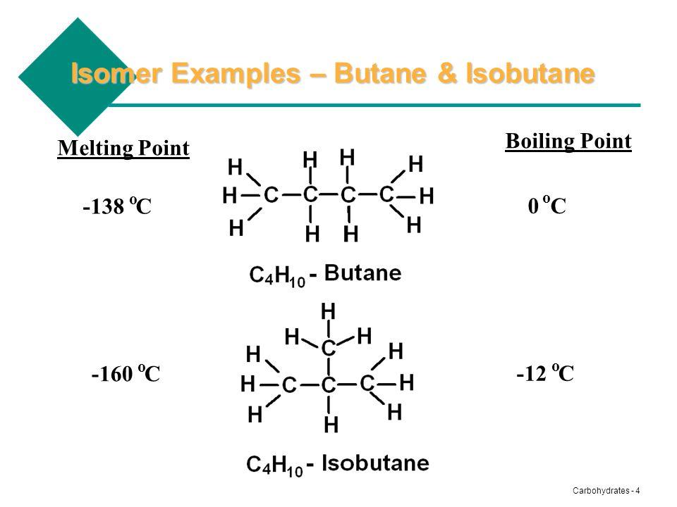 Isomer Examples – Butane & Isobutane