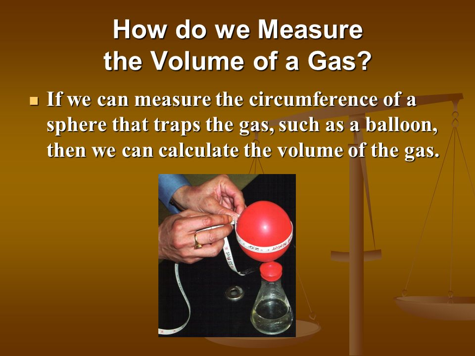How do we Measure the Volume of a Gas