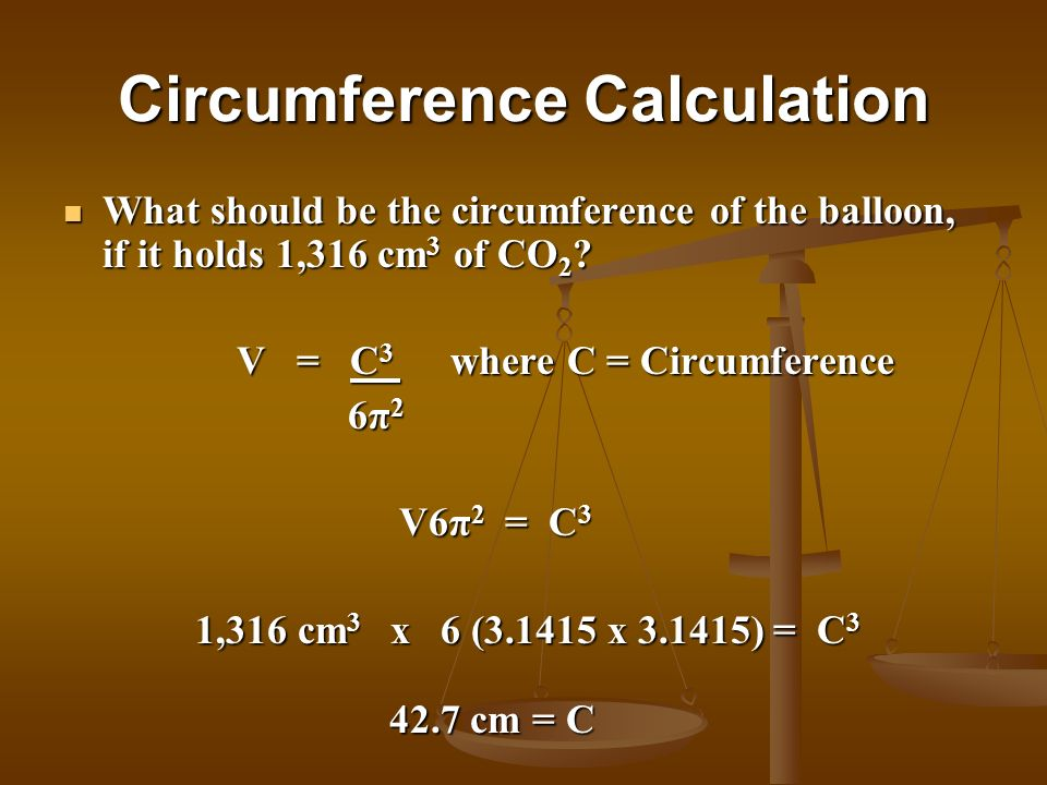 Circumference Calculation
