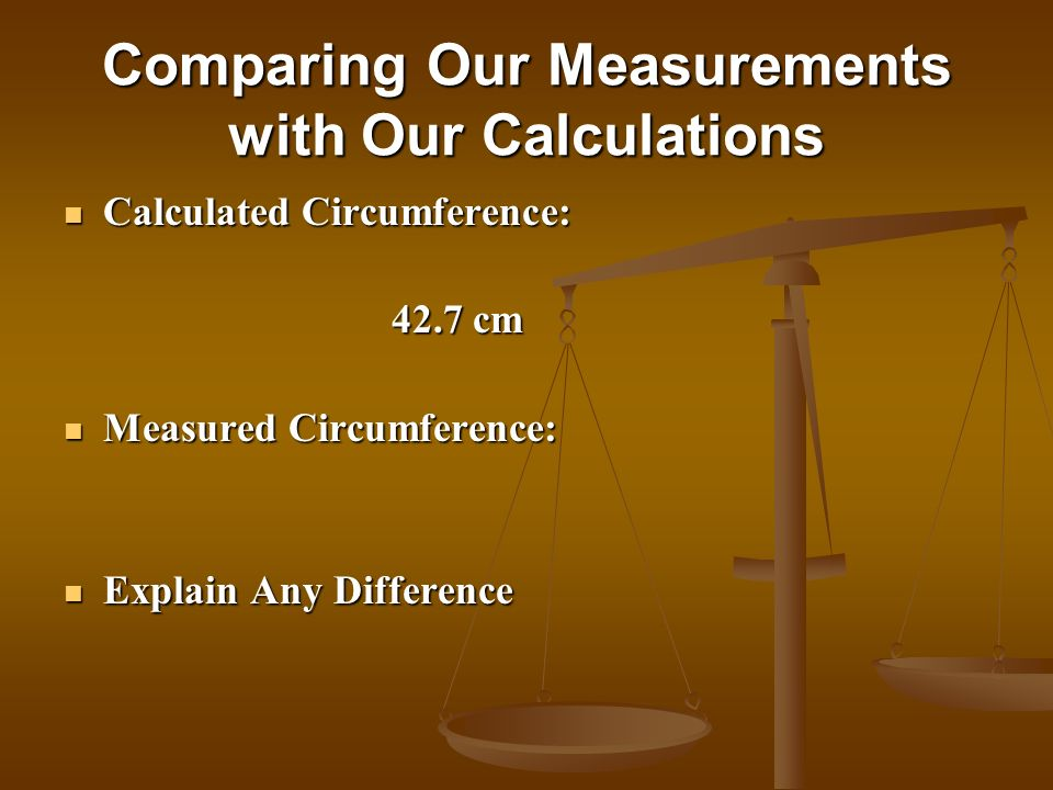 Comparing Our Measurements with Our Calculations