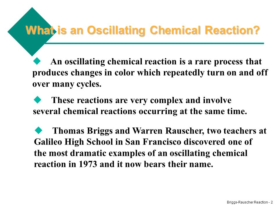 What is an Oscillating Chemical Reaction
