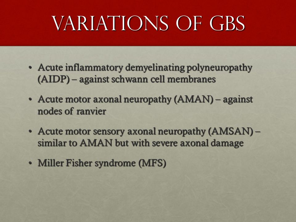 Guillain Barr Syndrome Gbs Ppt Video Online Download
