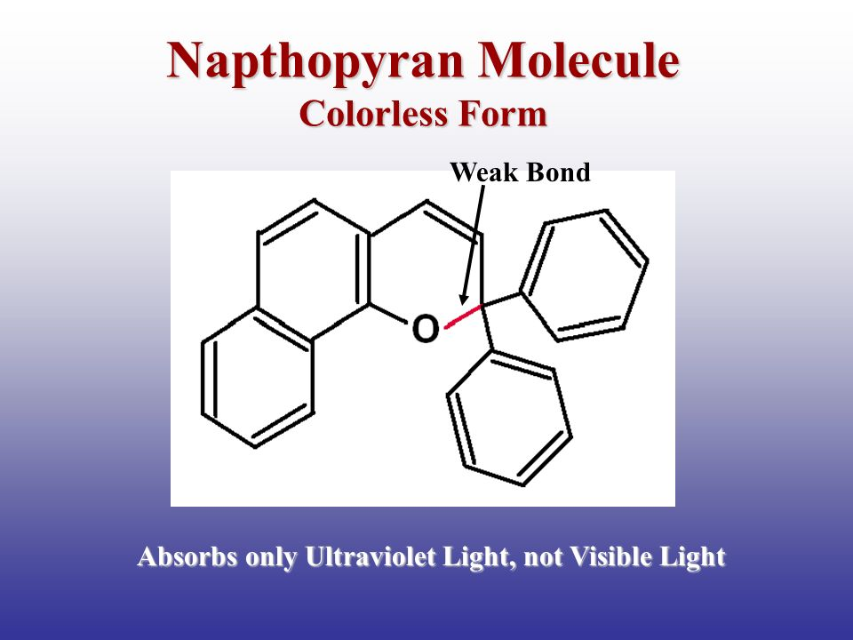 Napthopyran Molecule Colorless Form Weak Bond