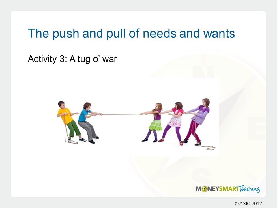 The push and pull of needs and wants