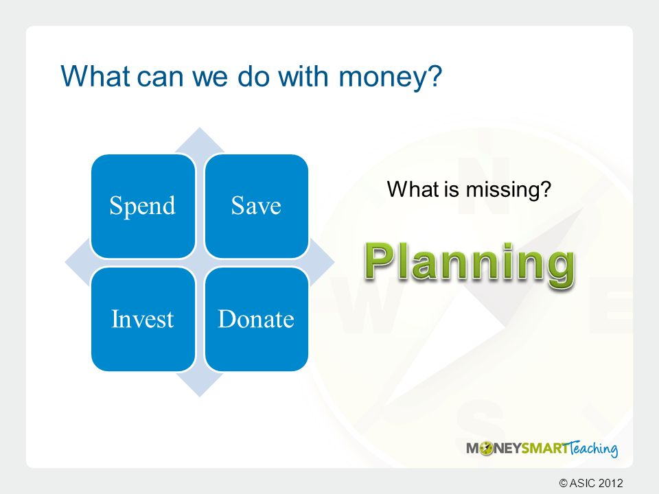What can we do with money