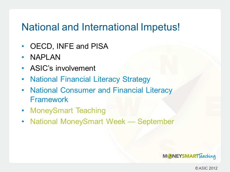 National and International Impetus!
