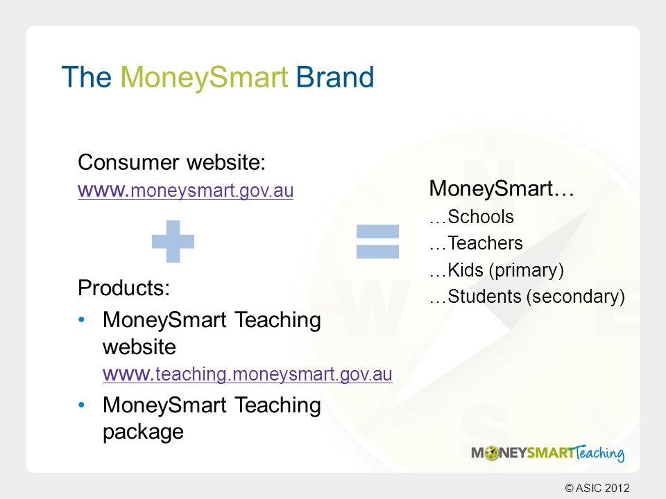 The MoneySmart Brand Consumer website: www.moneysmart.gov.au