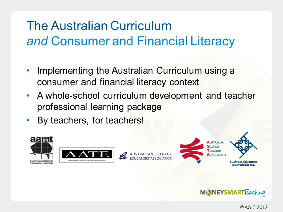 The Australian Curriculum and Consumer and Financial Literacy