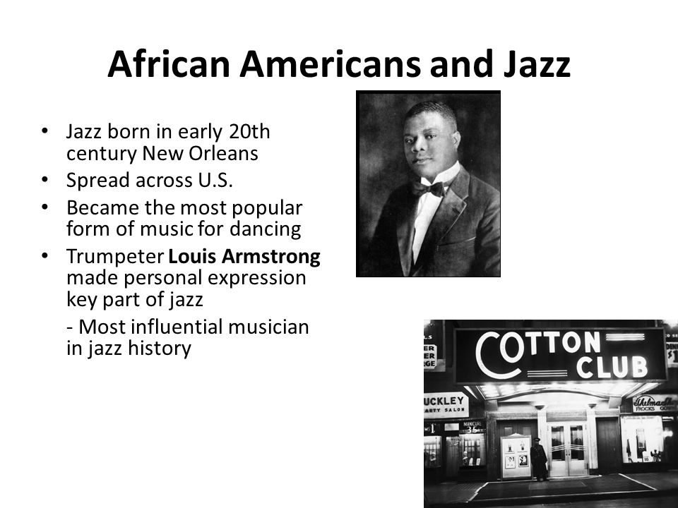 a history of jazz in african american music Jazz history - jazz history can  slavery, colonialism and the exploitation of african peoples all play significant roles in the development of african-american music.