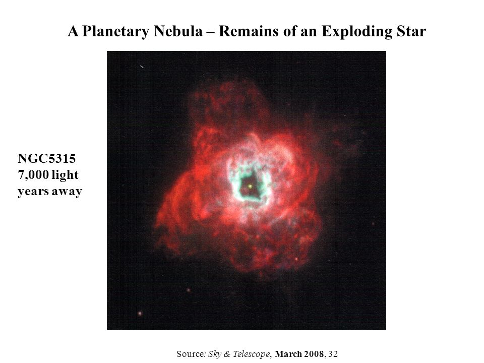 A Planetary Nebula – Remains of an Exploding Star
