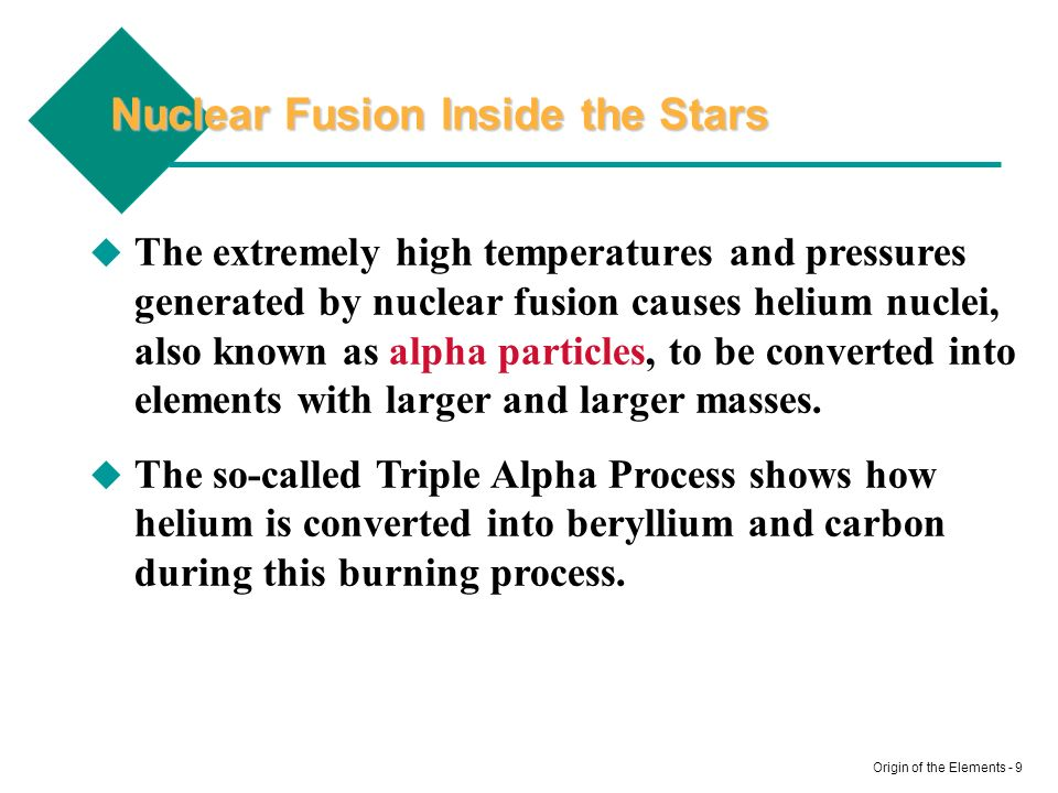 Nuclear Fusion Inside the Stars