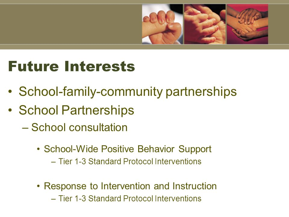 Future Interests School-family-community partnerships