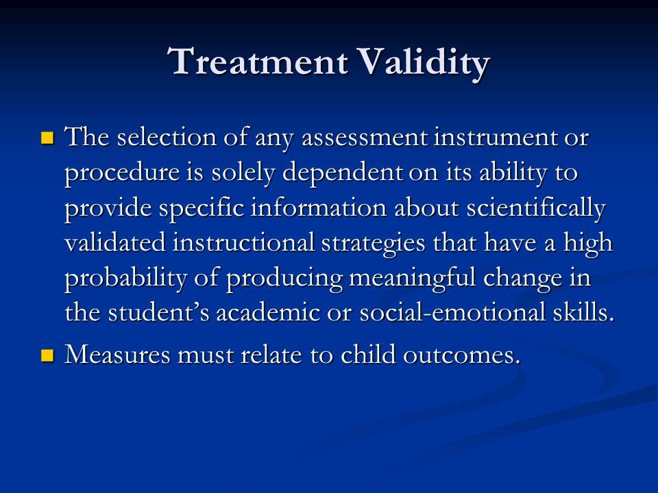 Treatment Validity