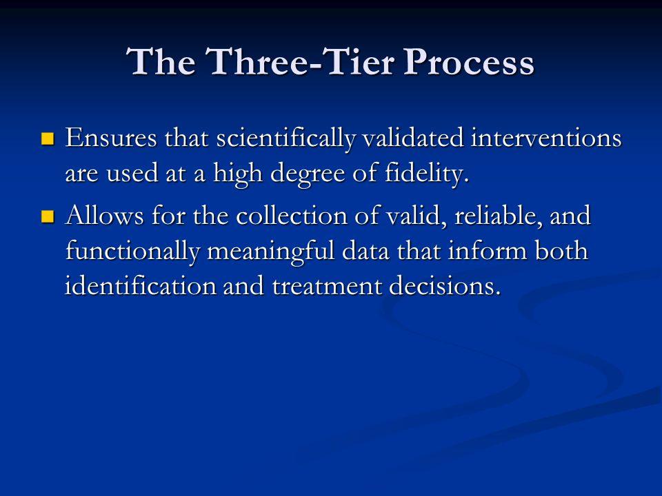 The Three-Tier Process