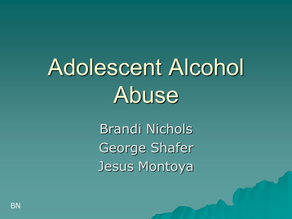 adolescent alcohol abuse Research supports use of the this screening tool for adolescents ages 14 to 18, with cut points of two for identifying any alcohol problem use and three for alcohol abuse or dependence drugs drug abuse screen test (dast-10) screening tool.