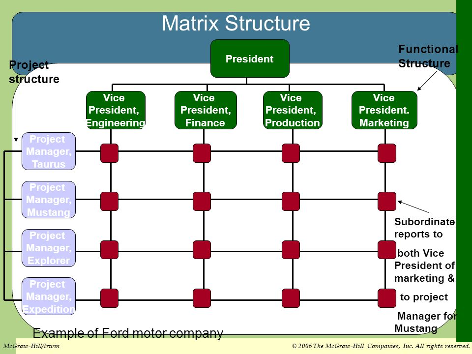 Ford Motor Organizational Structure