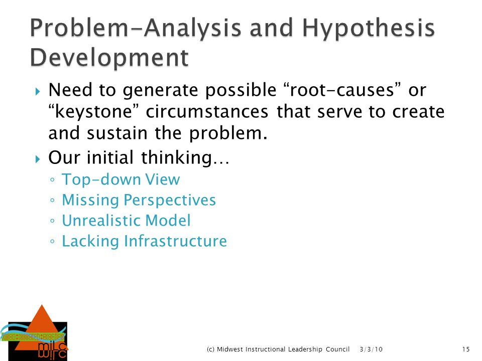 Problem-Analysis and Hypothesis Development