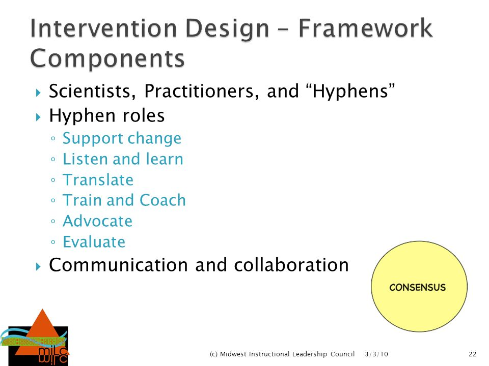 Intervention Design – Framework Components