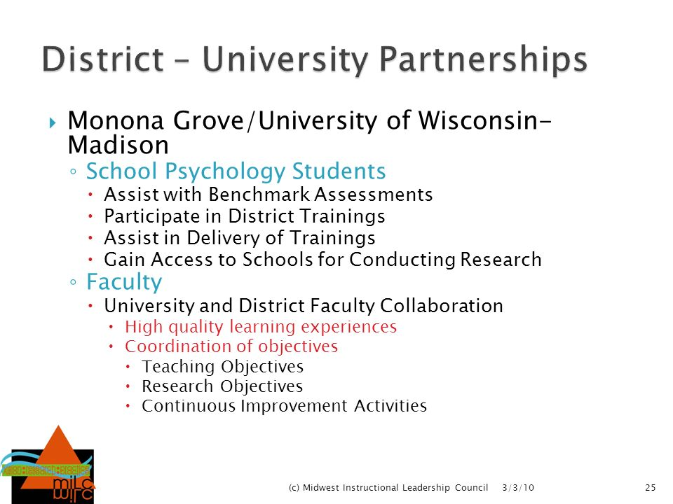District – University Partnerships