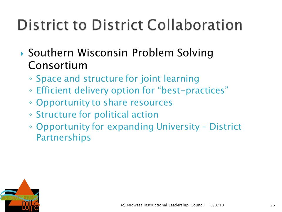 District to District Collaboration