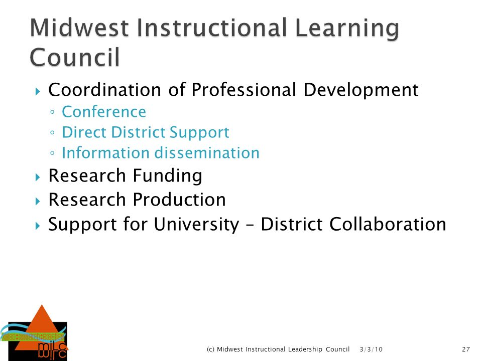 Midwest Instructional Learning Council